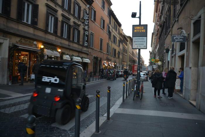 Birò entra gratuitamente nella ZTL del centro di Roma